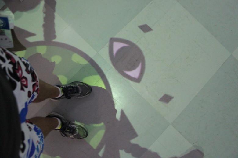My feet in Anagura, Virtual City Tokyo