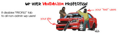 WP User Vandalism Protection – wordpress plugin