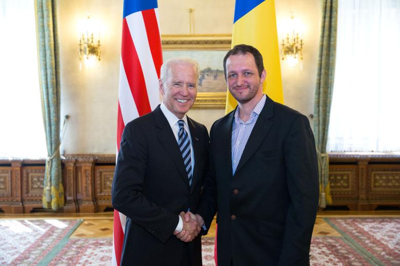 Constantin Ferseta si Joe Biden